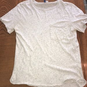 Men's speckled white vintage T-shirt